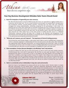 Four Key New Business Development Mistakes to Avoid