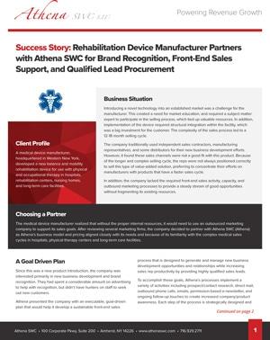 Rehabilitation Company Case Study Preview